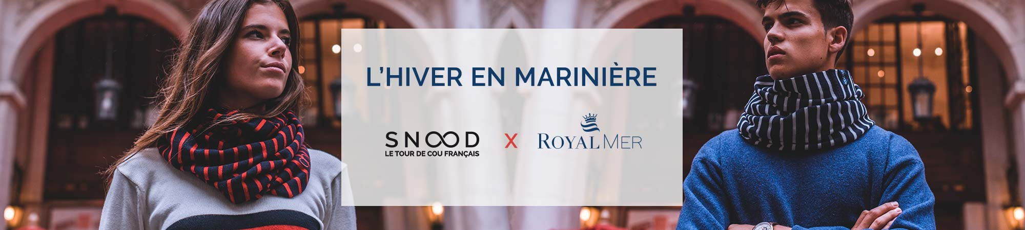 Tous en marinière - Collab Snood x Royal Mer